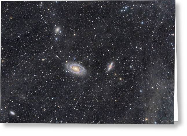 M81 And M82 Widefield Greeting Card