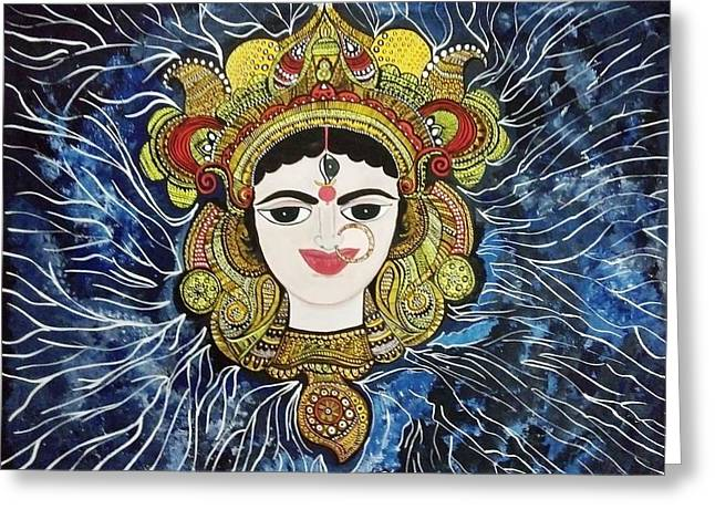 Maa Durga Greeting Card by Archana Jha