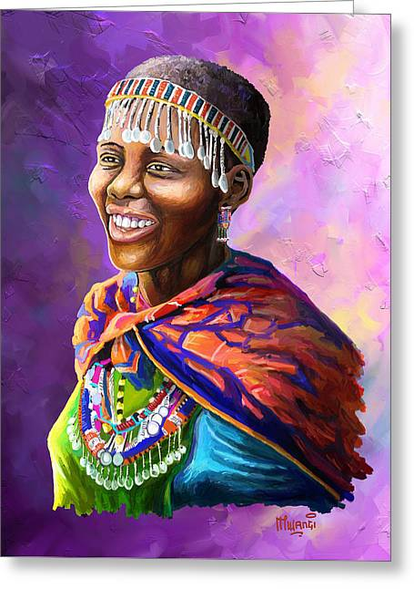Maasai Girl Greeting Card