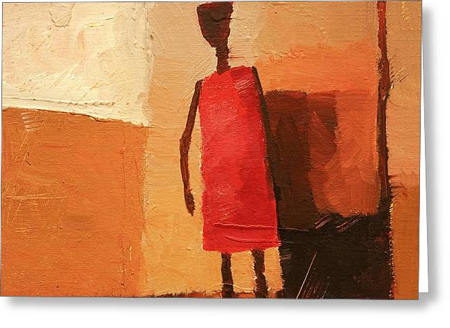 Maasai Greeting Card by Lutz Baar