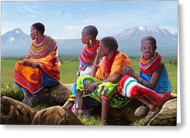 Samburu In Maasai Land Greeting Card