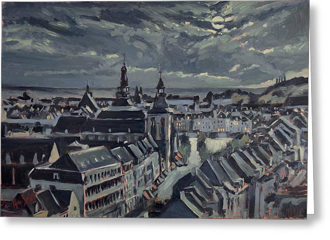 Maastricht By Moon Light Greeting Card