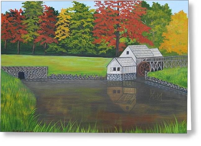 Mabry Grist Mill  Greeting Card by Ruth  Housley