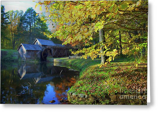 Mabry Mill Dreamy Greeting Card by Skip Willits