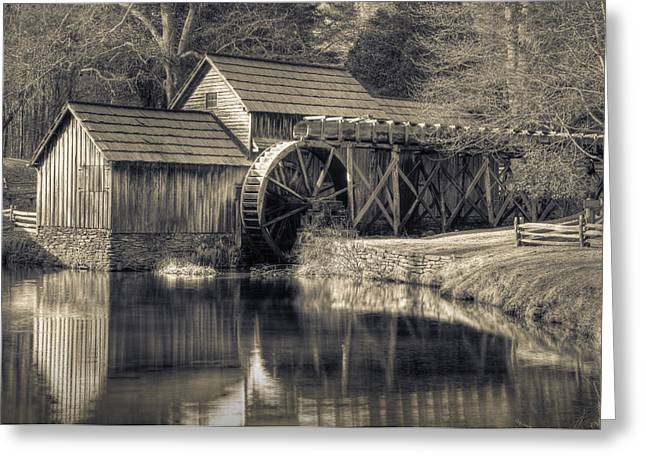 Mabry Mill Greeting Card by Harry H Hicklin