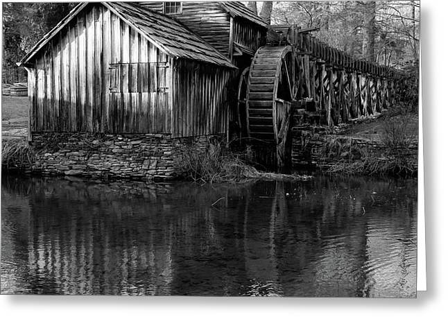 Mabry Mill In Black And White 1x1 - Virginia Greeting Card