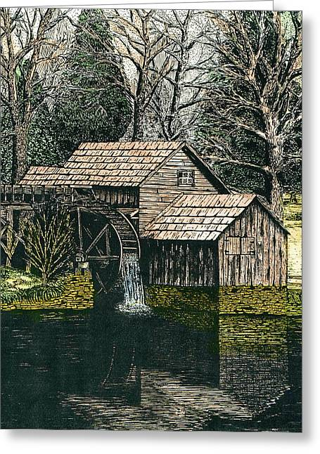 Mabry Mill Greeting Card by Mike OBrien