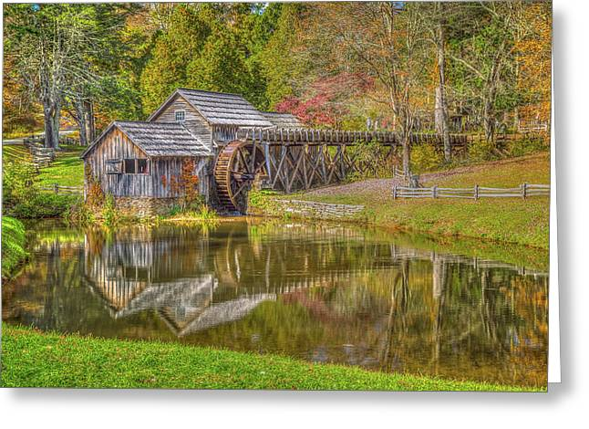 Mabry Mill Reflections Greeting Card by Tom Weisbrook