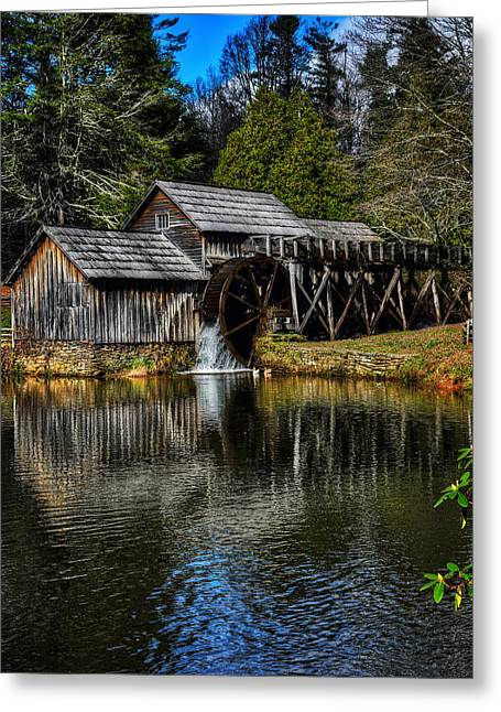 Mabry Mill  Greeting Card by Steve Hurt