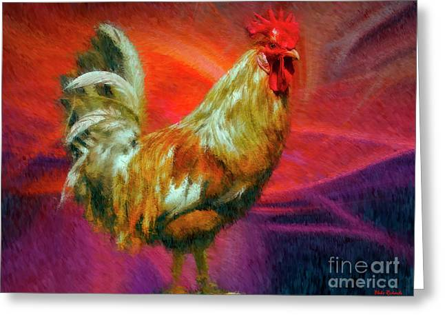 Mac And Cheese The Rooster Greeting Card by Blake Richards