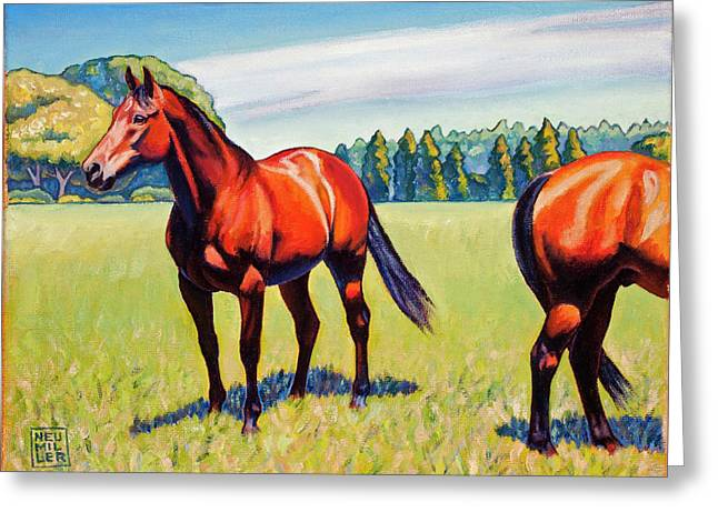 Mac And Friend Greeting Card by Stacey Neumiller