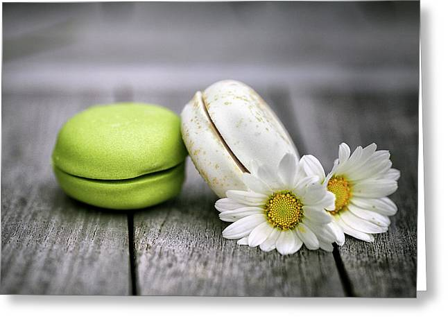 Macarons Greeting Card by Nailia Schwarz