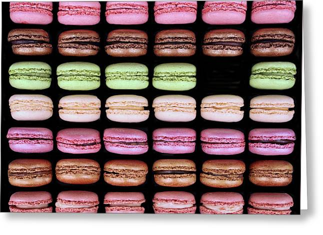 Macarons - One Missing Greeting Card by Nikolyn McDonald