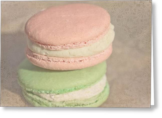 Macarons Greeting Card by Colleen Kammerer