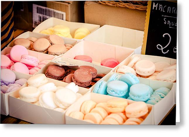 Greeting Card featuring the photograph Macaroooons by Jason Smith