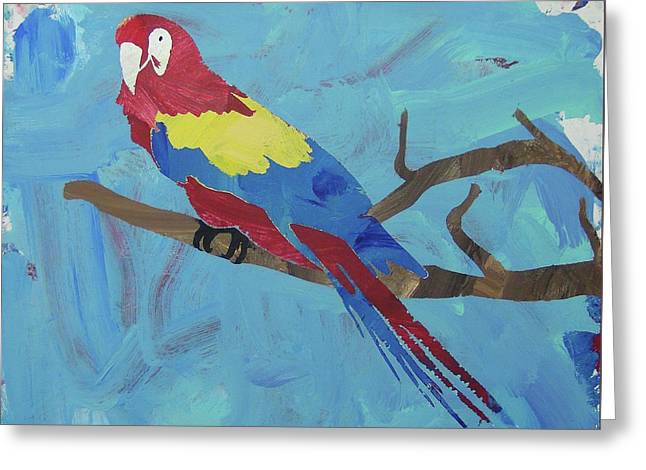 Greeting Card featuring the painting Macaw by Candace Shrope
