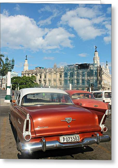 Macchine Dell'havana Greeting Card by Vincenzo Molino