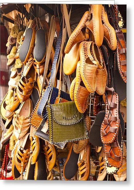 Macedonian Shoes Greeting Card by Rae Tucker