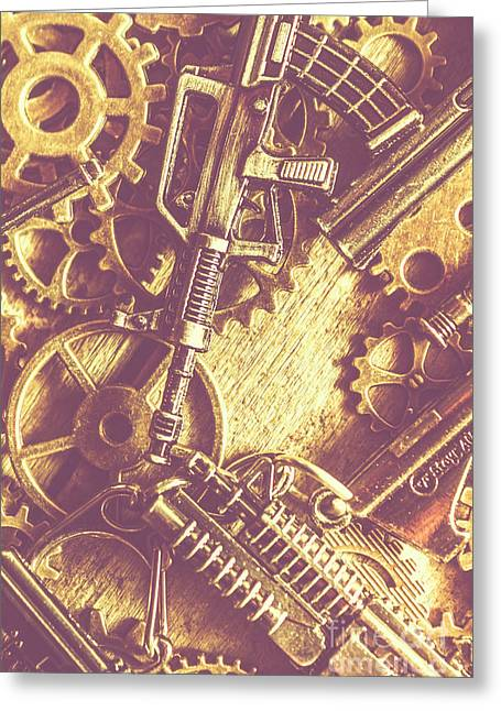 Machine Guns Greeting Card