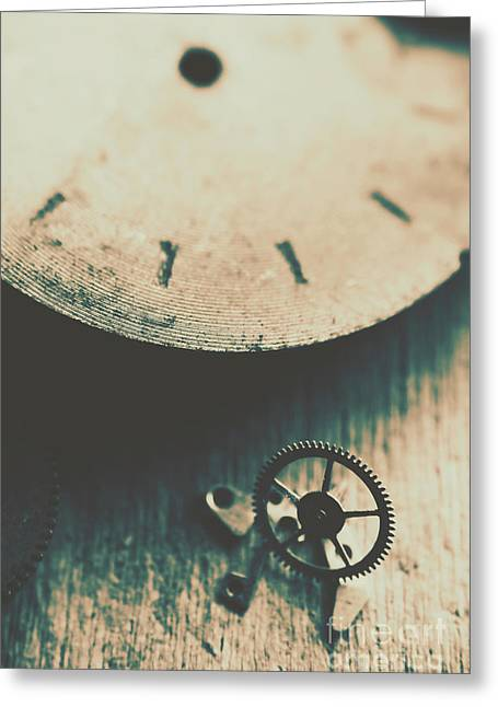 Machine Time Greeting Card by Jorgo Photography - Wall Art Gallery