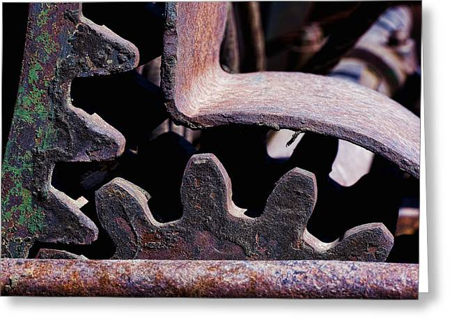 Rusty Gears Greeting Cards - Machinery Greeting Card by Kelley King