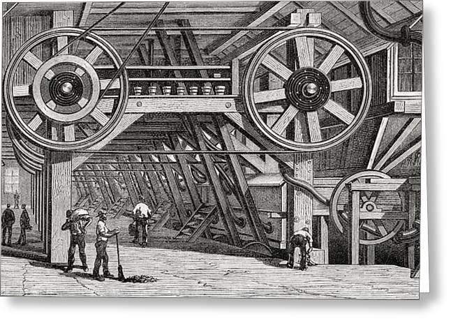 Machinery Used For Crushing Silver Ore Greeting Card