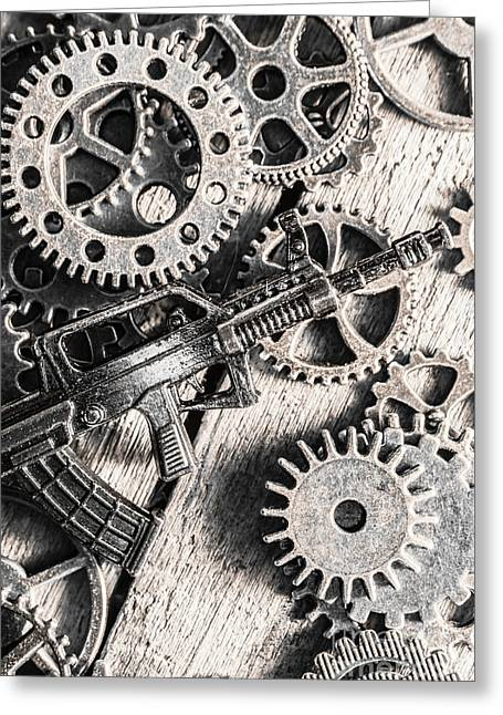 Machines Of Military Precision  Greeting Card