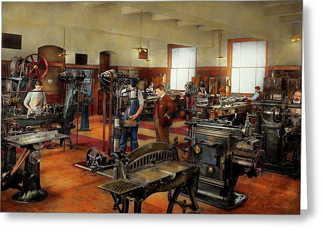 Machinist - The Standard Way 1915 Greeting Card