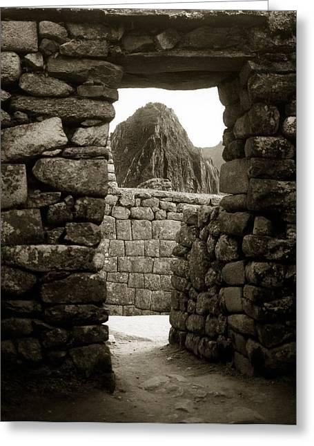 Machu Picchu Greeting Card by Amarildo Correa