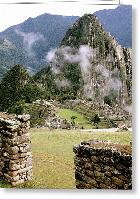 Machu Picchu In The Morning Light Greeting Card