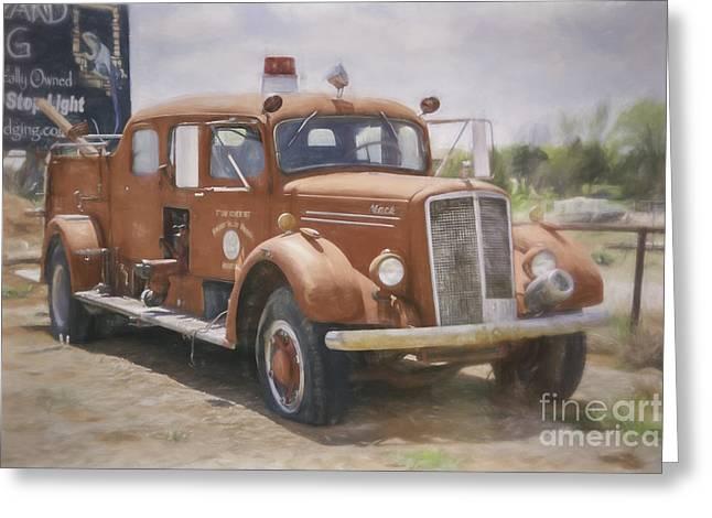 Mack Fire Truck  Greeting Card