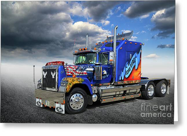 Mack Truck Greeting Card by Stephan Grixti