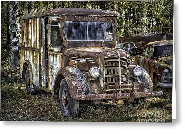 Very Old Mack Truck Greeting Card