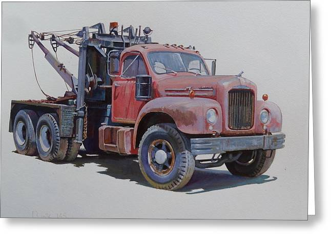 Mack Wrecker. Greeting Card by Mike  Jeffries