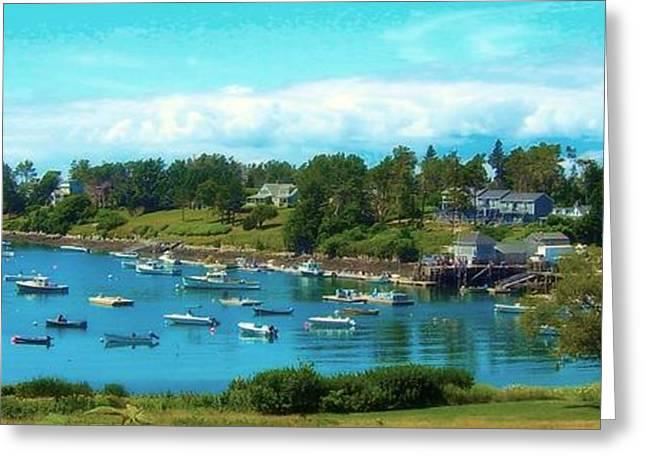 Mackerel Cove On Bailey Island Greeting Card