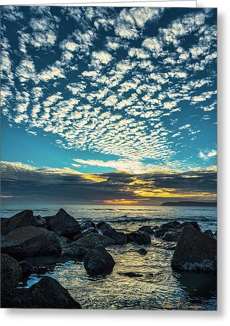 Greeting Card featuring the photograph Mackerel Sky by Dan McGeorge