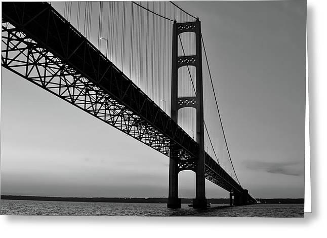 Mackinac Bridge At Sunset Greeting Card