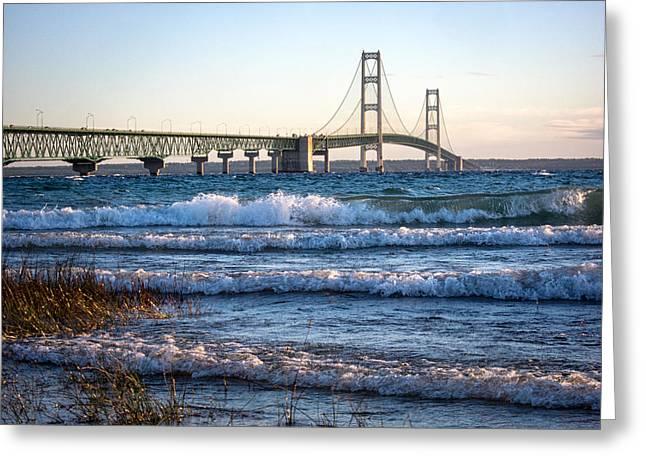 Mackinac Bridge Michigan Greeting Card
