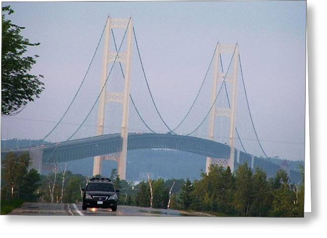 Mackinac Bridge Greeting Card