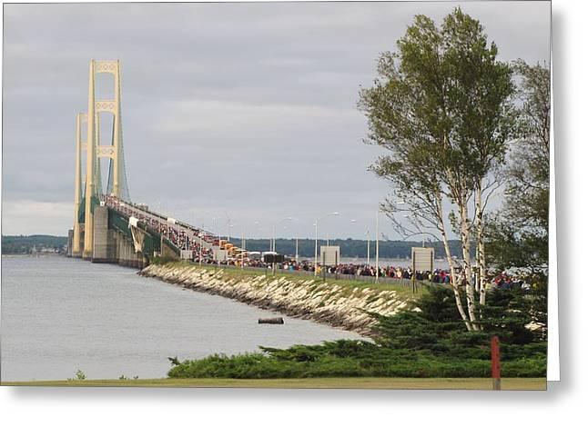 Mackinac Bridge Walk Greeting Card
