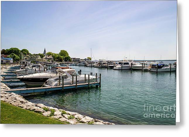 Mackinac Island Marina Greeting Card