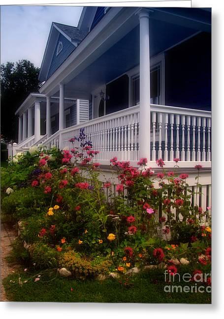 Mackinac Island Victorian Wildflower Garden Greeting Card