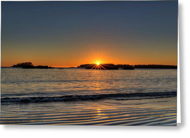 Mackinsie Beach Sun Burst Greeting Card