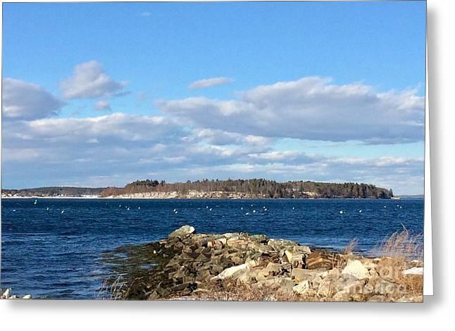 Mackworth Island Falmouth Maine Greeting Card