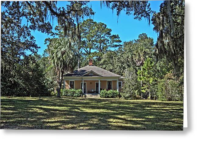Frank Feliciano Greeting Cards - Maclay Gardens Ranger Quarters Greeting Card by Frank Feliciano