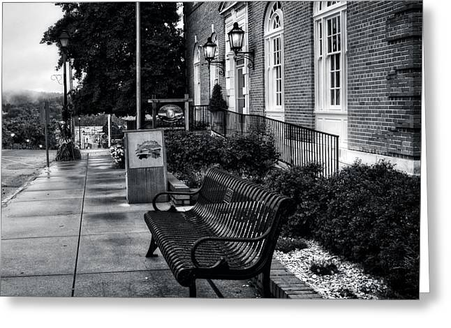 Macon County Emergency Services In Black And White Greeting Card