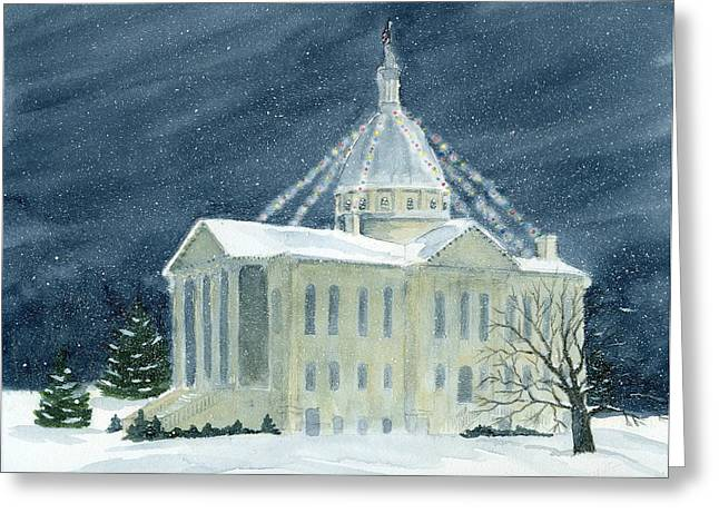 Macoupin County Illinois Courthouse Greeting Card by Denise   Hoff