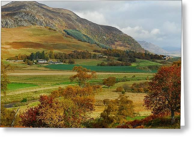 Kelly Digital Art Greeting Cards - Macpherson Autumn - The Clan MacPhersons Seat  Greeting Card by John Kelly