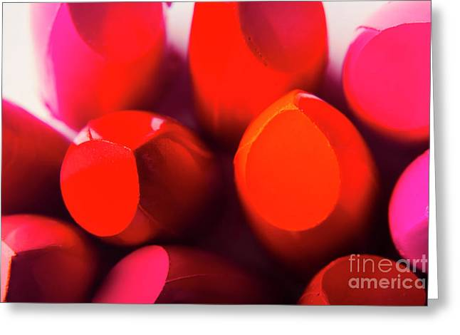 Macro Cosmetic Art Greeting Card by Jorgo Photography - Wall Art Gallery