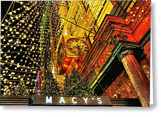 Macy's Christmas Lights Greeting Card by Randy Aveille